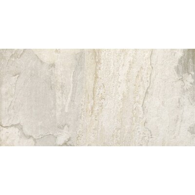 "Epoch Architectural Surfaces 12"" x 24"" Porcelain Field Tile in White Slate"