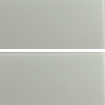 "Epoch Architectural Surfaces Cloudz Stratus 12"" x 6"" Glass Subway Tile in Gray"