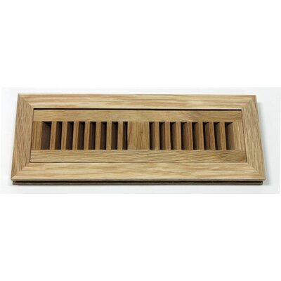 "Moldings Online 5-3/4"" x 12-1/4"" White Oak Flush Mount Wood Vent"
