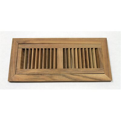 "Moldings Online 6-3/4"" x 14-1/2"" Acacia Flush Mount Wood Vent"