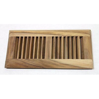 "Moldings Online 4"" x 10"" Surface Mount Unfinished Acacia Wood Vent"