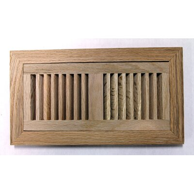 "Moldings Online 4-1/2"" x 14-1/8"" Red Oak Flush Mount Wood Vent"
