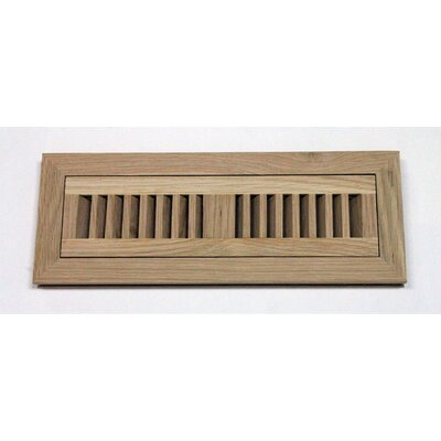 "Moldings Online 4-1/2"" x 12"" White Oak Wood Flush Mount Vent"