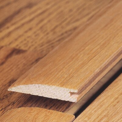 "Moldings Online 0.52"" x 2"" Solid Hardwood Bamboo Natural Horizontal Reducer in Unfinished"