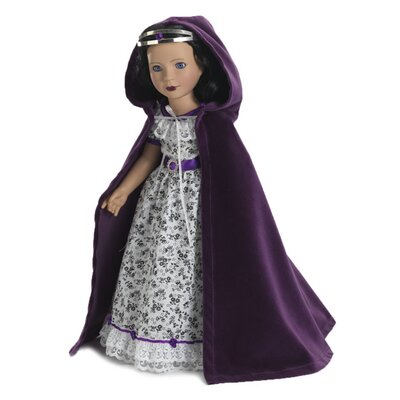 "Carpatina Royal Purple Velvet Cloak and Crown for all 18"" Dolls"