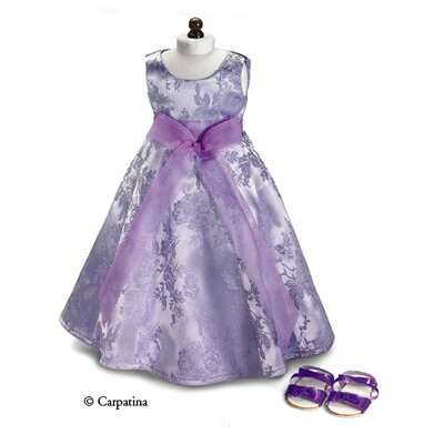 Carpatina American Girl Dolls Lavender Holiday Party Dress and Sandals