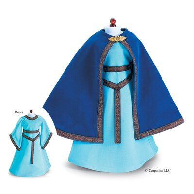 Carpatina American Girl Dolls French Princess Medieval Dress and Velvet Cloak