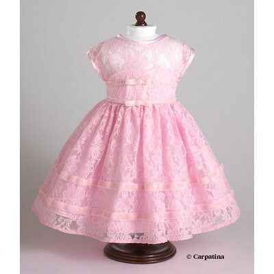 Carpatina American Girl Dolls Vintage Pink Party Dress