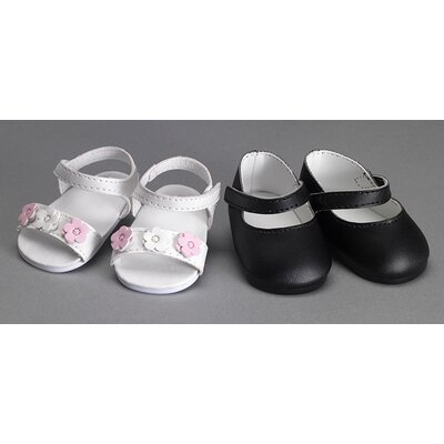 Carpatina American Girl Dolls Shoes Set with Sandals and Mary Janes