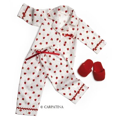 Carpatina American Girl Dolls Strawberry Fields Pajamas and Slippers