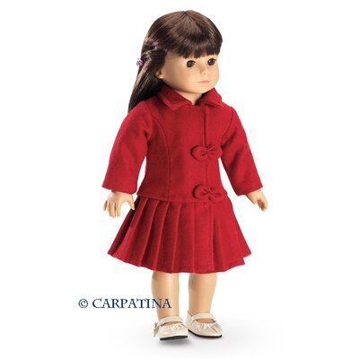 Carpatina American Girl Dolls Red Wool Coat
