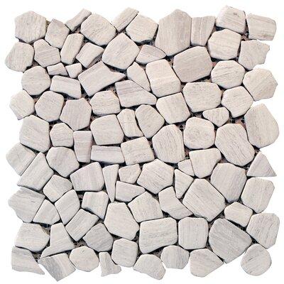 Solistone Haisa Marble Random Sized Irregular Mosaic in Haisa Light