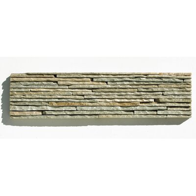 Portico Slate Random Sized Stacked Stone Tile in Light Green