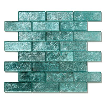 "Solistone Folia 12"" x 12"" Glass Interlocking Mesh Tile in Juniper"