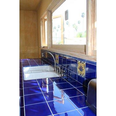 "Solistone Hand-Painted Ceramic 3"" x 6"" Glazed Field Tile in Azul"