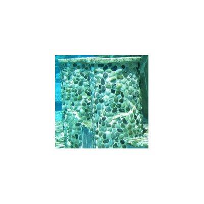 Solistone Decorative Pebbles Random Sized Interlocking Mesh Tile in Rumi