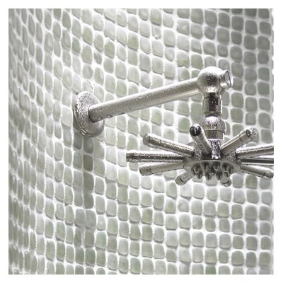 "Solistone Pillow 12"" x 12"" Interlocking Mesh Glass Tile in Opalescent (Frosted)"
