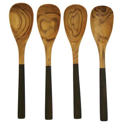 Teak Two-Tone Large Spoon (Set of 4)