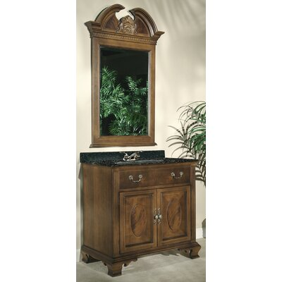 "Kaco International Dorchester 36"" Vanity in Brown Cherry with Granite Top"