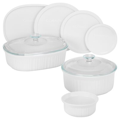 French White 11 Piece Bake and Serve Set