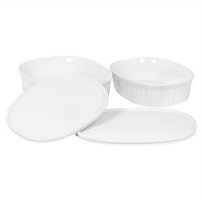 French White Oval Mini Set