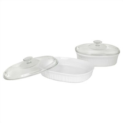 French White 4 Piece Bake and Serve Set