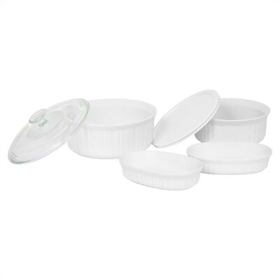 French White 6 Piece Bake and Serve Set