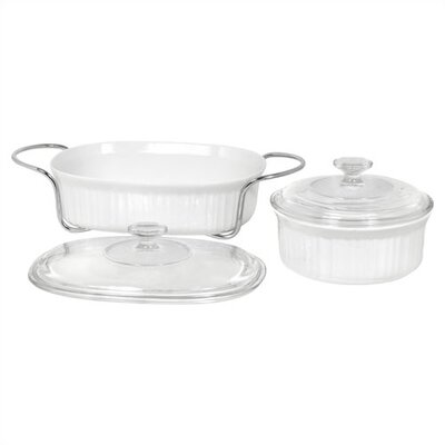Corningware French White 5 Piece Bake and Serve Set