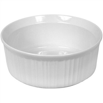 French White 1-Qt. Round Bowl