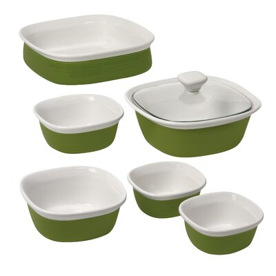 Corningware Etch 7 Piece Bakeware Set