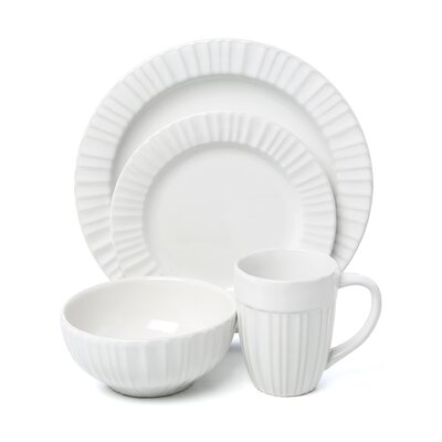 French White 16 Piece Dinnerware Set