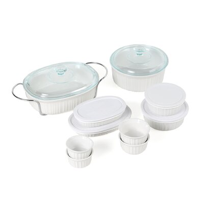 <strong>Corningware</strong> French White 17 Piece Bake and Serve Set