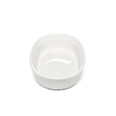 Corningware French White 15 oz. Oval Dish with Plastic Cover