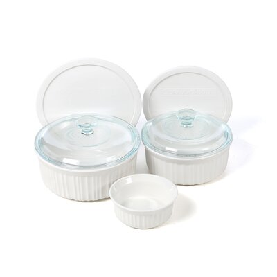 Corningware French White 7 Piece Bake and Serve Set