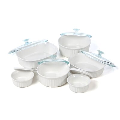 Corningware French White 12 Piece Bake and Serve Set