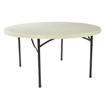 National Public Seating Commercialine Round Blow Mold Folding Table