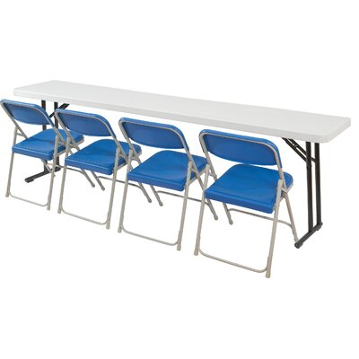 National Public Seating 6' Rectangular Narrow Folding Table