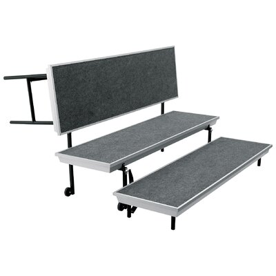 National Public Seating Three-Level Trans-Port Choral Risers and Guard Rails