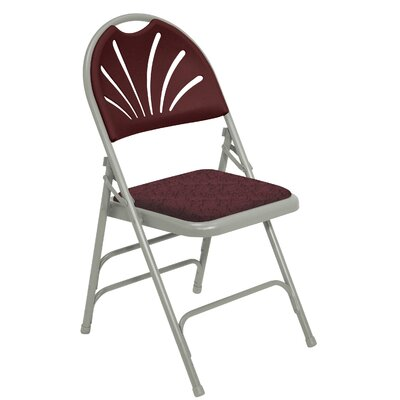 National Public Seating 1000 Series Triple Brace, Fan Back Padded Folding Chair