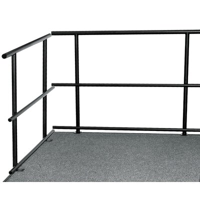 National Public Seating Portable Stage & Seated Riser Package in Hardboard
