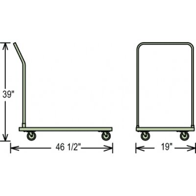 National Public Seating Dolly for 1100 Chair