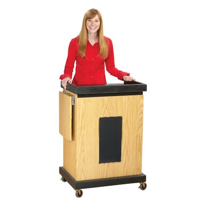 Oklahoma Sound Corporation Smart Cart Lectern with Sound