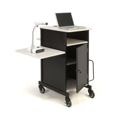 Oklahoma Sound Corporation Jumbo Plus Presentation Cart Full Podium