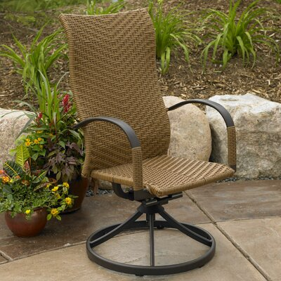 The Outdoor GreatRoom Company Naples Swivel Dining Arm Chairs (Set of 2)
