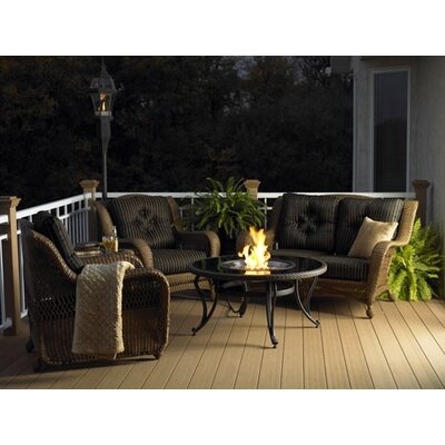 The Outdoor GreatRoom Company Glass Fire Pit Table with Matching Center Top