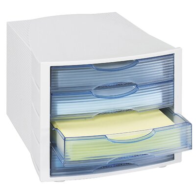 Safco Products Company Safco 4 Drawer Desk Organizer (Closed) (Set of 4)