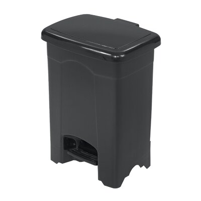 Safco Products Company 4-Gal. Plastic Step-On Trash Receptacle