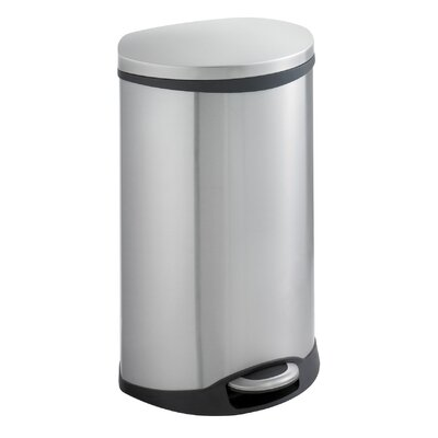 12.5-Gal. Ellipse Step-On Trash Receptacle