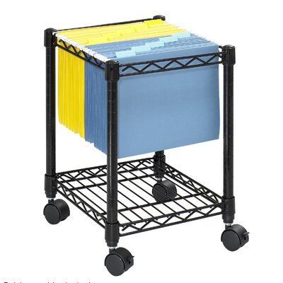 """Safco Products Company 19.5"""" Compact Mobile Wire File Cart"""