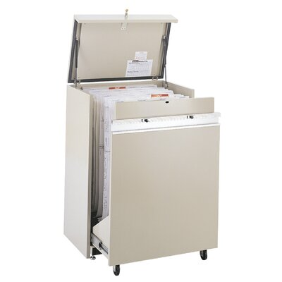 Safco Products Company MasterFile 2 Small Filing Cart